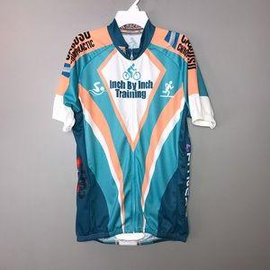 Ascend Sportswear Cycling Shirt. Men Size L White